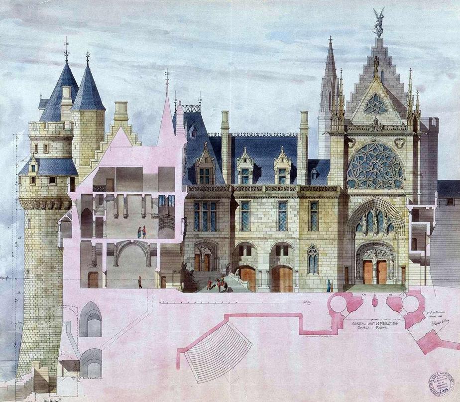 Exemple de restitution de Viollet-le-duc