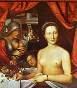 François Clouet, Dame au bain, 1571